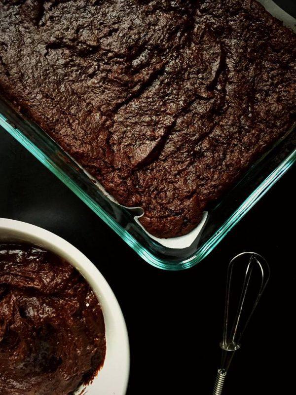 Vegan Frosted Espresso Fudge Brownies