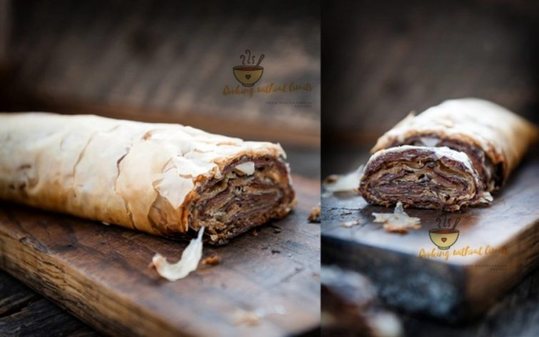 Chocolate and Peanut Butter Baklava