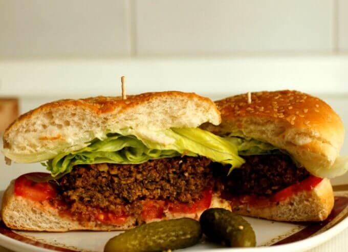 Vegan Mushroom & Nut Burgers