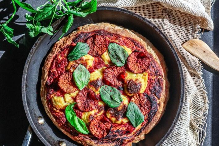 Vegan Pepperoni Pan Pizza