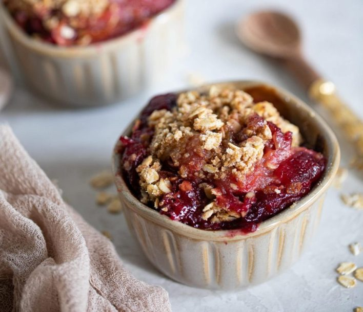 Vegan Apple Plum Crisp
