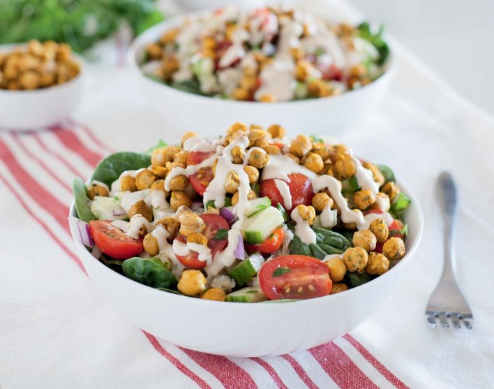 Vegan Mediterranean Quinoa Bowls with Roasted Chickpeas