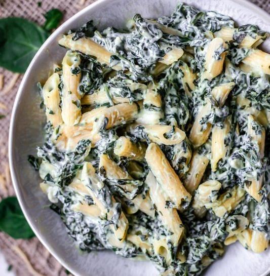 Vegan Creamy Spinach Pasta