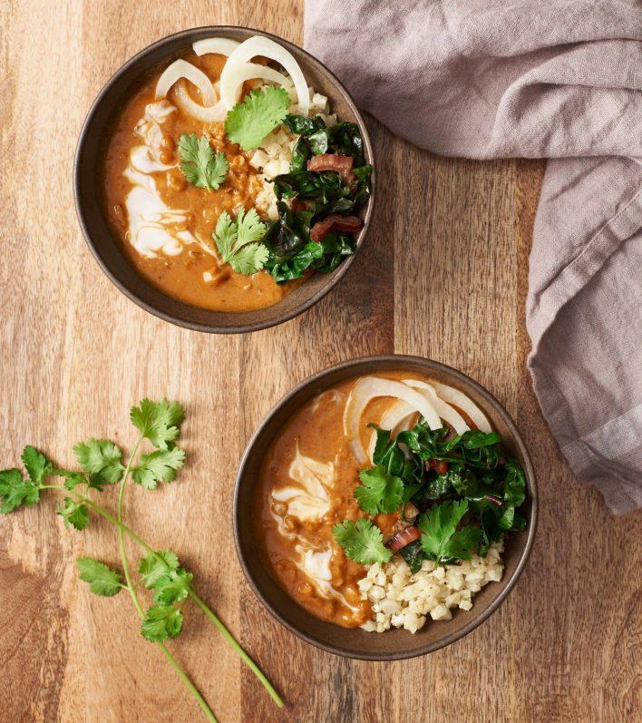Vegan Spiced Red Lentil Bowls