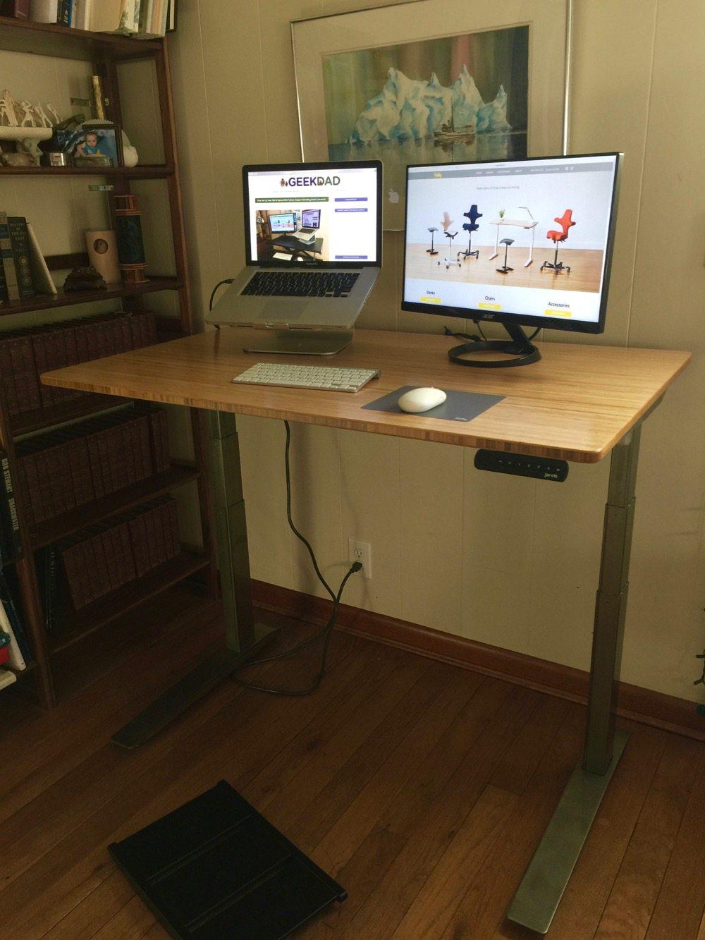 Jarvis Bamboo Adjustable Standing Desk Best Desk I Ve Ever Used Geekdad