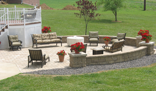 stone walls patios pavers and