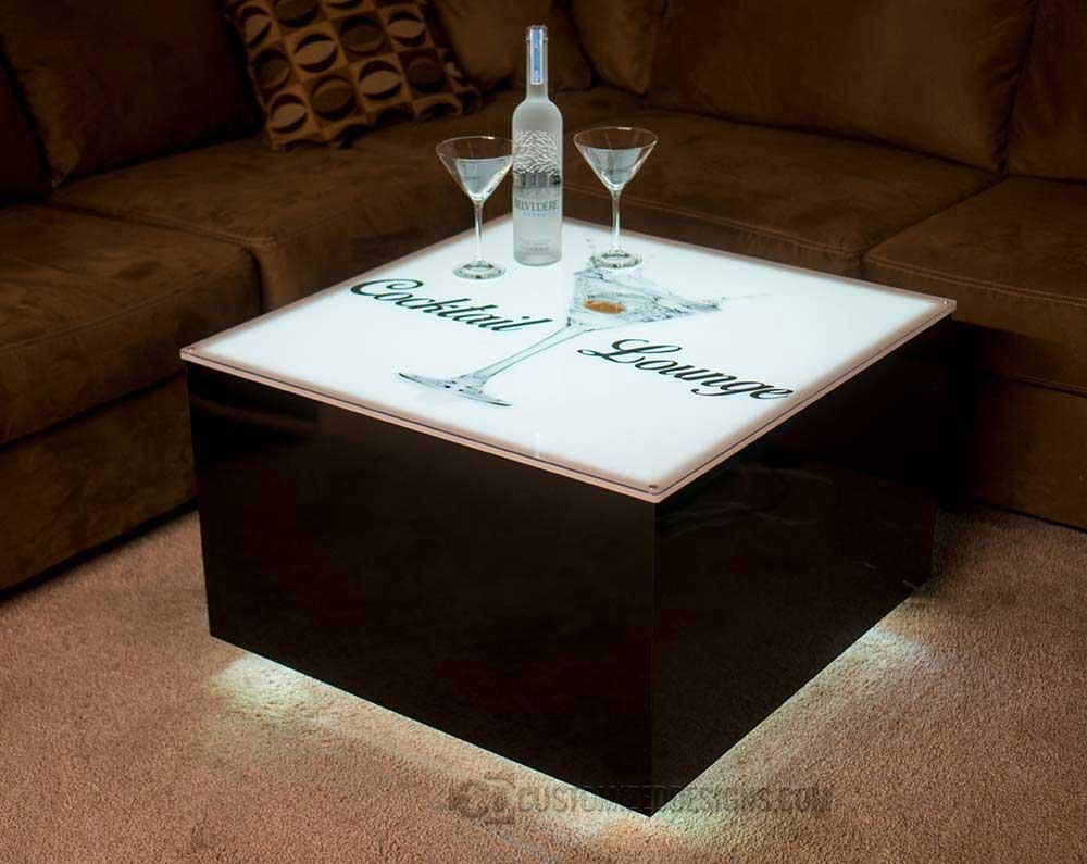 cubix series 30 x 30 led illuminated coffee table bar furniture