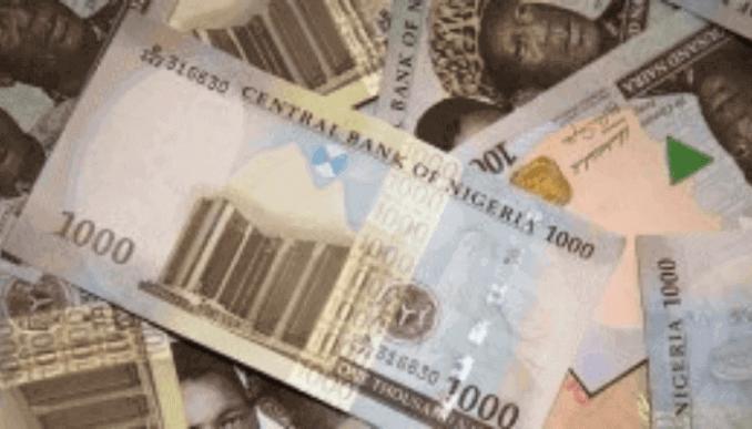1000 Naira notes