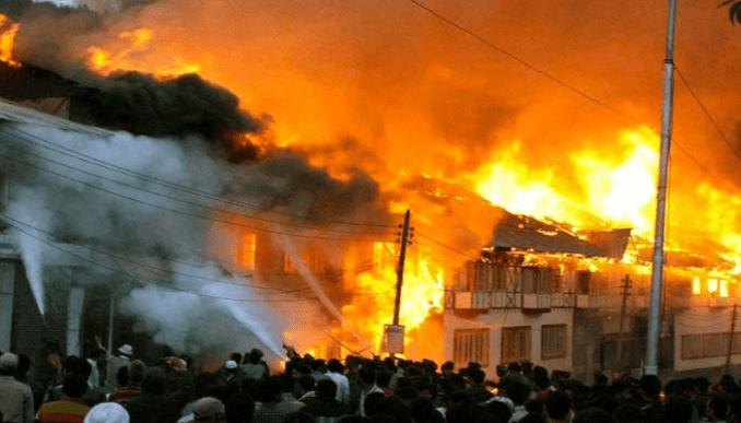 Abuja market fire c