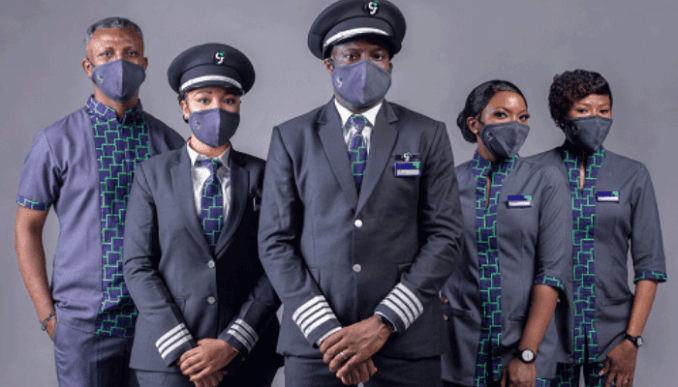 Green Africa cockpit/ cabin crew line up