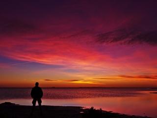 Sonnenaufgang am Étang de Monro
