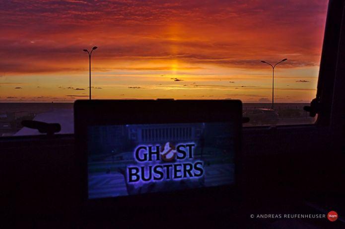 Zum Film passender Sonnenuntergang