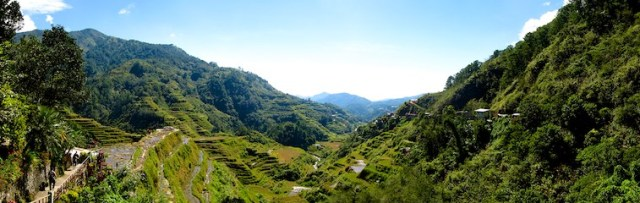 Panorama of the Rice Terraces Banaue
