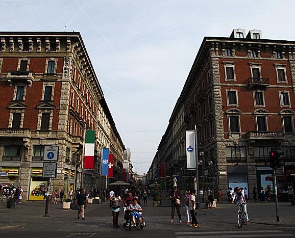 Street of Milan