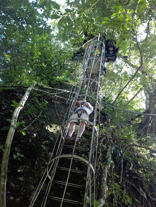 Climbing down to the Pagsanjan Waterfall
