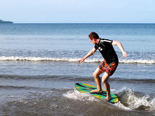 That´s how you skimboard!