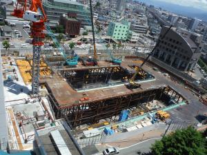6月25日現在の工事状況。