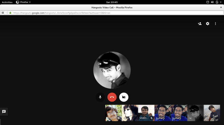 Fedora QA on-boarding kickoff in Bhopal, India: Starting the video call