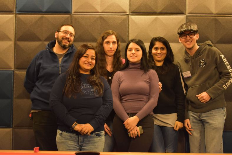 Team picture of the Diversity Team members (left to right: Brian Exelbierd, Amita Sharma, Radka Janek, Jona Azizaj, Bhagyashree Padalkar, Justin W. Flory)