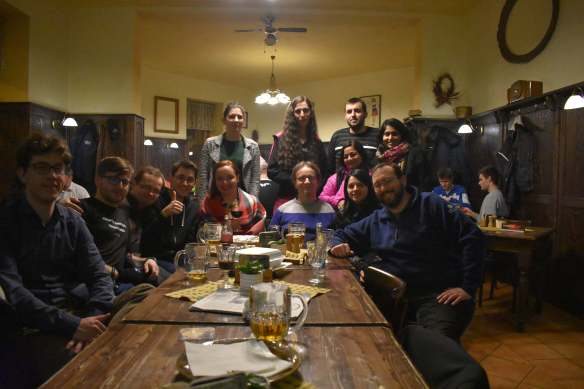 Saturday night dinner with other members of the Fedora community for the Fedora Diversity FAD 2017