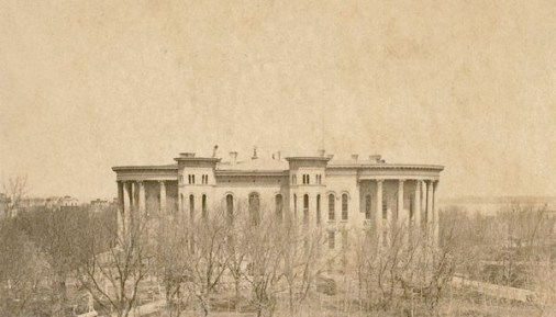 Madison's Capitol building in 1868