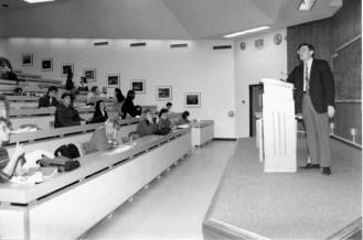 Professor Thain teaching a law class.