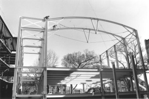 Construction of the current Law Library from 1995.