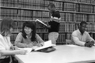 Students in the Law Library.