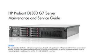 Manual Proliant DL380 G7