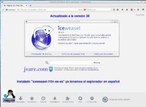 Iceweasel 38 en Knoppix 7.5