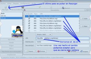 Cambiar repositorios para poner Knoppix 7.6 en español