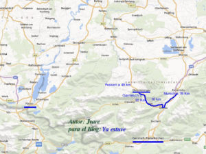 Localización de Oberammergau en el Sur de Baviera