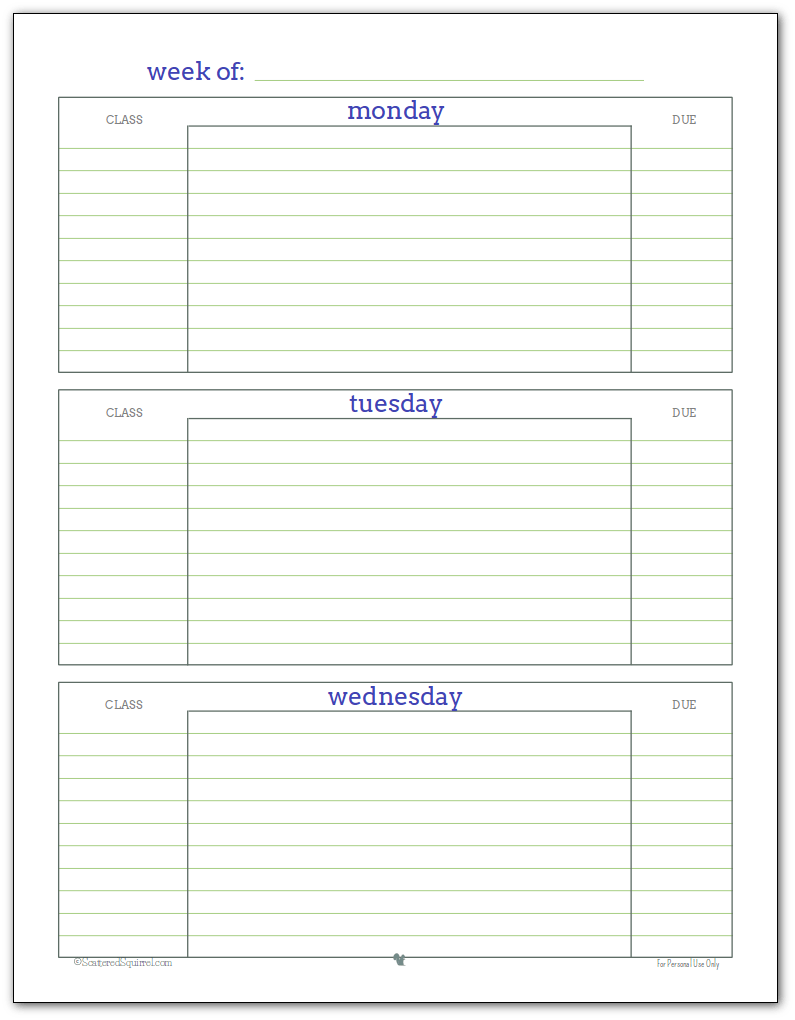 College Lesson Plan Template Printable