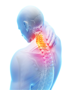upper back pain caused by muscle spasms impinging on nerves and cervical bones