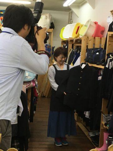 新潟日報夕刊取材