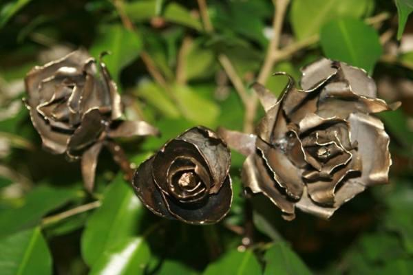 Rose en fer forgé - 1618concept.fr