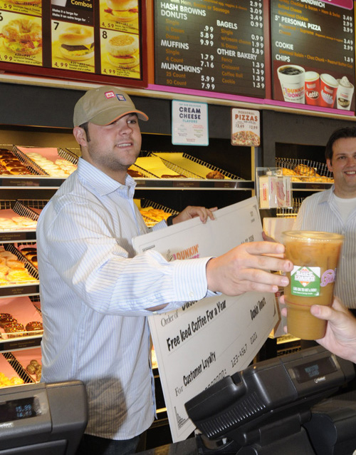 That's really him, he did a promotion last year for Dunkin Doughnuts
