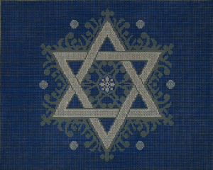 Fancy Star Tallit Navy/Silver
