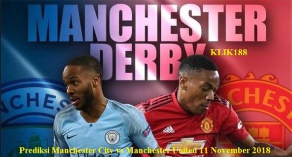 Manchester City vs Manchester United 11 November 2018