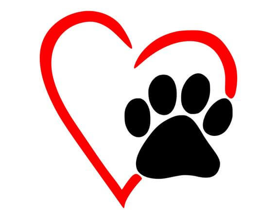 Heart with a Paw Print