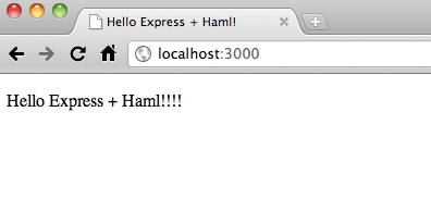 Hello Express + Haml