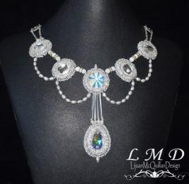 N-16001 Swarovski crystal pearls bugle necklace 2 jpg