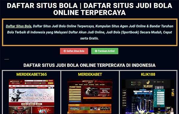 Daftar Bandar Judi Bola Online Terpercaya