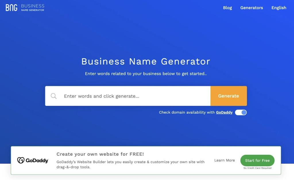 Need a Catchy Business Name? Find Ideas With These Tips and Free Name Generators
