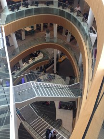 Four floors of circulation, reference and archives.