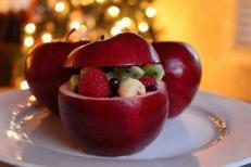 mela ripiena di frutta