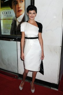 """Audrey Tautou at the New York premiere of """"Coco Before Chanel"""" at the Paris Theater"""