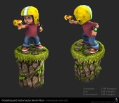Commander Keen 3D low poly - texturé