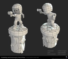 Commander Keen 3D low poly - wireframe
