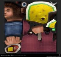 Commander Keen 3D low poly - texture